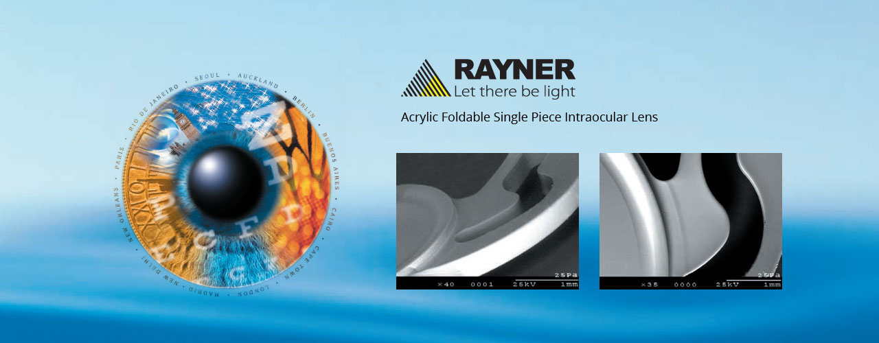 Rayner - Acrylic Foldable Single Piece Intraocular Lens